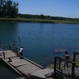 Lago escondido en Tristan Suarez