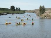 Kayaking en el río Quequen Salado