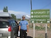 Llegando a Tupungato