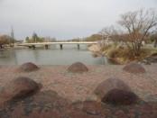 Nuevo puente vehicular que comunica Rio Colorado con La Adela