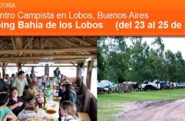 Encuentro Campista en Lobos, Buenos Aires del 23 al 25 de Mayo
