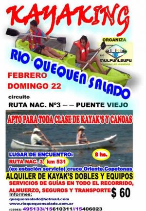 El primer kayaking del año en el río Quequen Salado