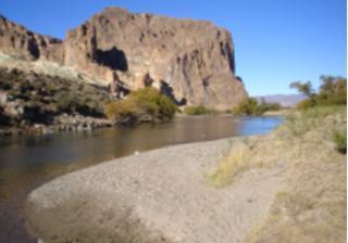 Paso del Sapo. Río Chubut