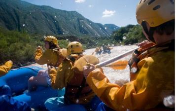 Rafting en río Juramento