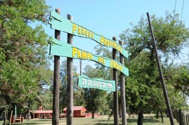 Ingreso al Parque Provincial Pampa del Indio