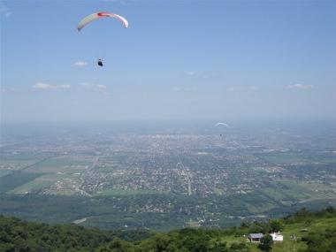 Parapente desde el cerro San Javier