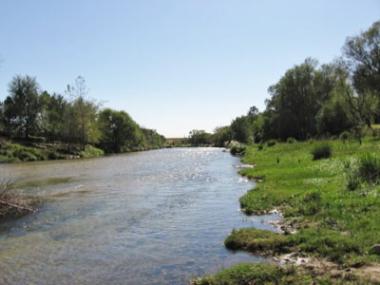 Río Los Reartes, en zona de balnearios