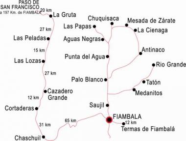 Pueblos cercanos a Fiambalá