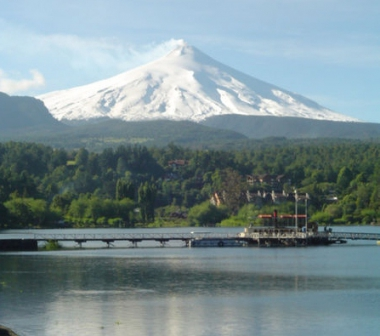Lago y Volcán Villarrica. Foto de Lulloa
