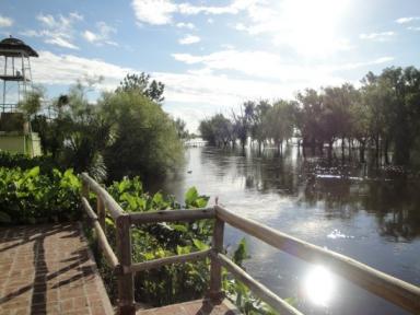 Terraza sobre el río Areco