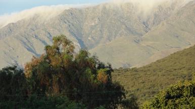 Vista de las Sierras de los Comechingones desde el Camping Luyaba