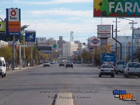 Avenida Irigoyen. Trelew