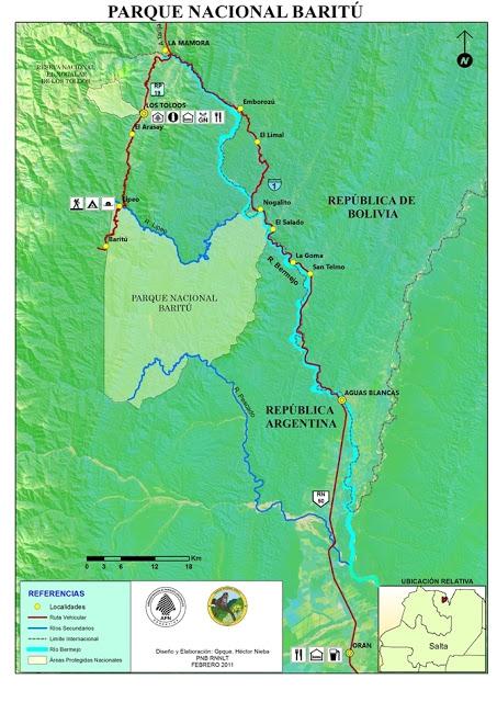 Mapa Parque Nacional Baritú
