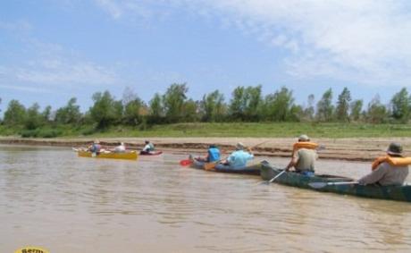 Canotaje en el río Bermejo