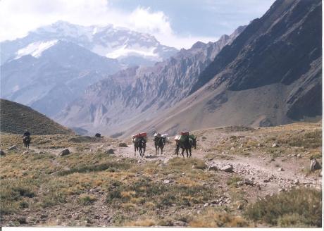 Regreso del Aconcagua. Los Horcones