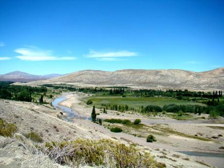 Rio Curi Leuvú, en Chos Malal, Neuquén