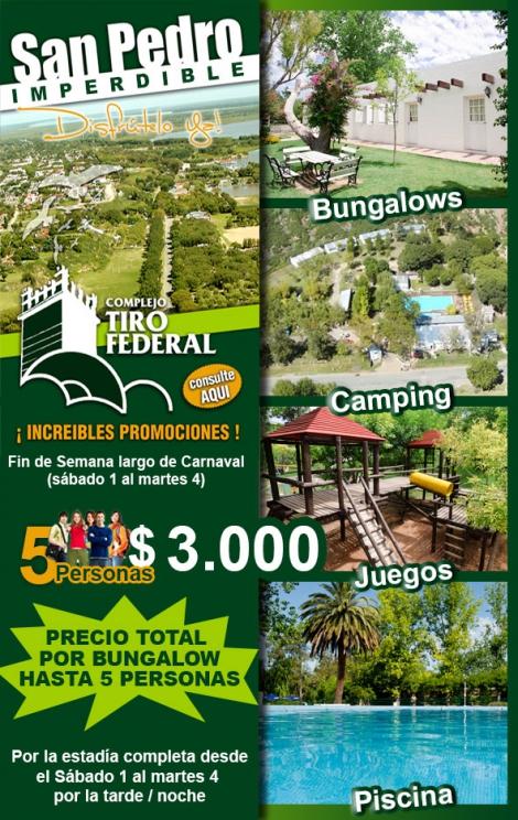 San Pedro imperdible - Complejo Tiro Federal San Pedro