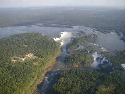 Cataratas del Iguazú aérea