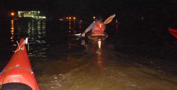 delta en kayak nocturna